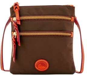 Dooney & Bourke Nylon North South Triple Zip Shoulder Bag - BROWN TMORO - STYLE