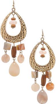 Carole Brown & Goldtone Beaded Drop Earrings