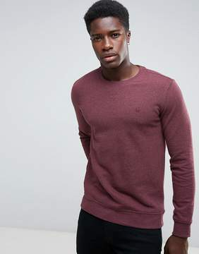 Benetton Sweatshirt In Burgundy