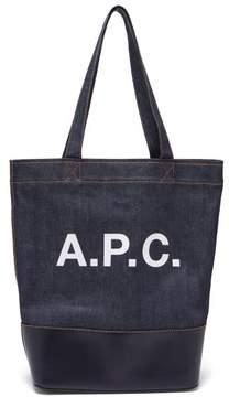 A.P.C. Axel Japanese Denim Tote Bag - Womens - Dark Blue