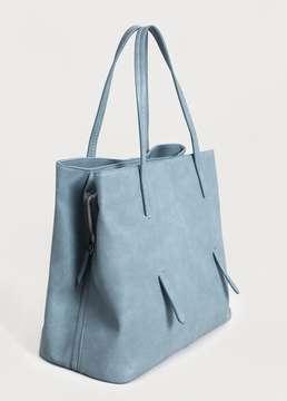 Violeta BY MANGO Pebbled shopper bag