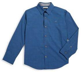 Calvin Klein Jeans Boy's Chambray Button-Down Shirt