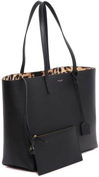 Saint Laurent Shopping Tote - NERO/MARRONE - STYLE
