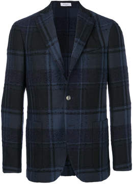 Boglioli plaid fitted blazer