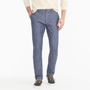 J.Crew 484 Slim-Fit Pant In Stretch Blue Chambray