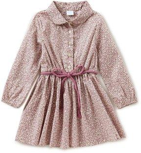 Edgehill Collection Made With Liberty Fabrics Little Girls 2T-6X Peter-Pan Collar Dress