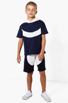 boohoo Boys Curve Contrast Hem Shorts