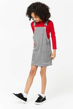 Forever 21 Girls Gingham Overall Dress (Kids)
