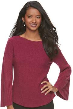 Elle Women's ElleTM Ribbed Boatneck Sweater