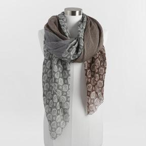 World Market Brown and Blue Quad Scarf