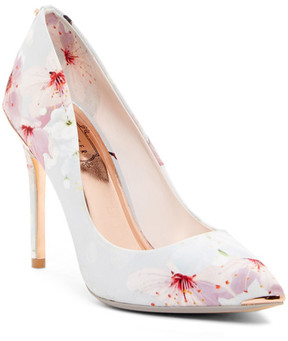 Ted Baker Point Toe Floral Print Pump