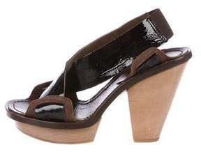Marni Patent Leather Slingback Sandals