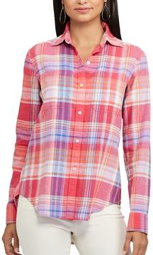 Chaps Women's Plaid Twill Shirt