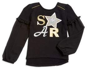Flapdoodles Little Girl's Star Hi-Lo Top