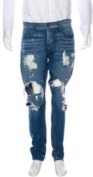Hudson Sartor Skinny Distressed Jeans