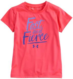 Under Armour Girls 4-6x Fast And Fierce Tee