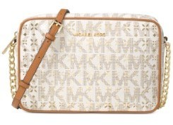 MICHAEL Michael Kors Jet Set Perforated Large Crossbody - VANILLA - STYLE