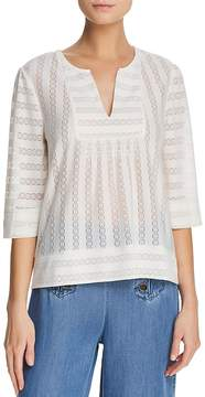 Ella Moss Lilly Lace-Inset Top