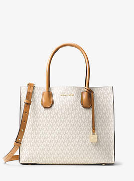 Michael Kors Mercer Large Logo Tote - NATURAL - STYLE