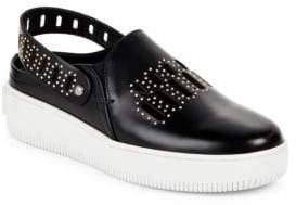 McQ Embellished Slingback Platform Sneakers