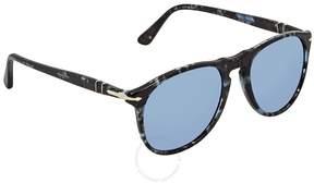 Persol Grey Mirror Blue Aviator Sunglasses PO9649S 1062O4