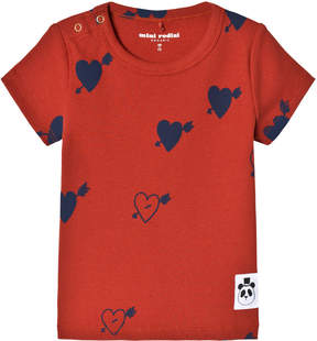 Mini Rodini Red Heart Rib Tee