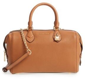 MICHAEL Michael Kors Large Grayson Convertible Leather Satchel - Brown