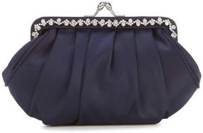 Adrianna Papell Kennis Rhinestone Pleat Clutch