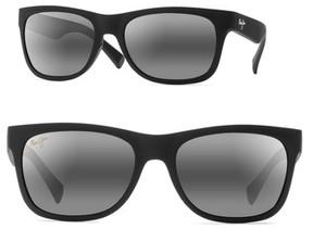 Maui Jim Men's Kahi 58Mm Polarizedplus2 Sunglasses - Matte Black/ Neutral Grey