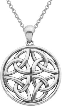 Celtic FINE JEWELRY Sterling Silver Knot Circle Pendant Necklace