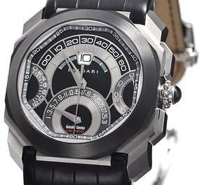 Bvlgari Octo Retrogradi Black Lacquered Dial Chronograph Men's Watch