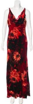 Carmen Marc Valvo Velvet Maxi Dress