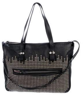 Christian Louboutin Studded Leather Shoulder Bag
