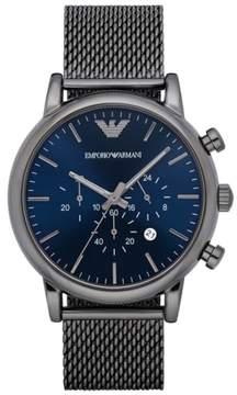 Emporio Armani Chronograph Mesh Strap Watch, 46Mm