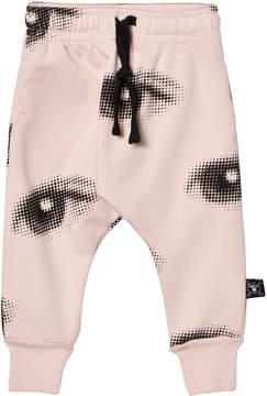 Nununu Powder Pink Eye Baggy Pants