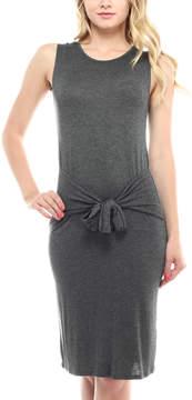 Celeste Charcoal Tie-Waist Sleeveless Dress - Women