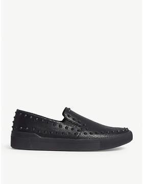 Aldo Zaclya faux-leather studded slip-on trainers