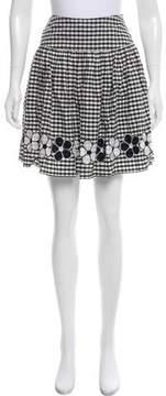 Anna Sui Gingham Mini Skirt