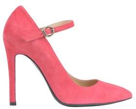Pinko Women's Pink Suede Pumps.