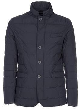 Herno Men's Blue Polyester Outerwear Jacket.