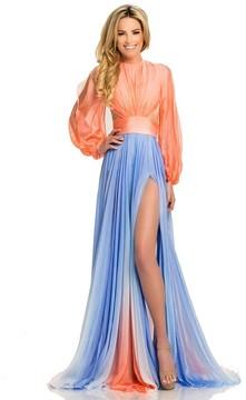 Johnathan Kayne 8005 Jewel Long Sleeves Chiffon Gown