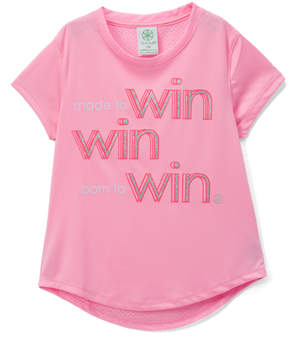 Gaiam Hush Pink 'Made to Win' Mesh-Back Lotus Chibori Tee - Girls