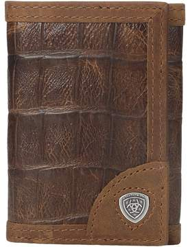 Ariat Shield Croco Tri-Fold Wallet Wallet Handbags