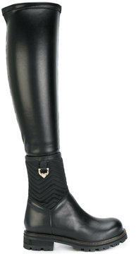 Twin-Set quilted thigh-length boots