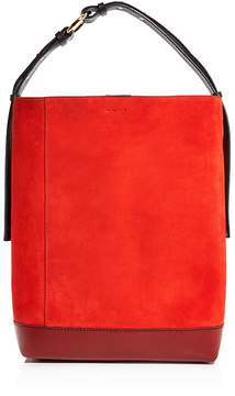 Marni Halo Pod Suede Shoulder Bag