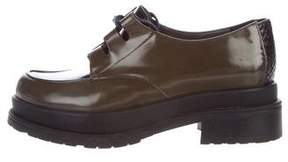 Stephane Kelian Platform Patent Leather Oxfords
