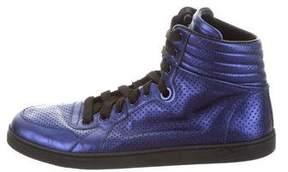 Gucci Metallic Leather Sneakers