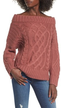 J.o.a. Women's Off The Shoulder Sweater