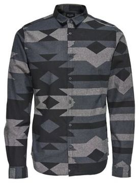 ONLY & SONS Aztec Cotton Button-Down Shirt