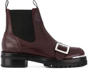 Alexander McQueen buckle strap boots